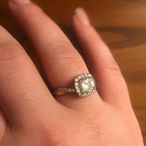 Cubic zirconia engagement ring!